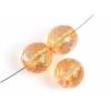 Fire polished 12mm Rich Cut Strung Transparent dyed Orange Aurora Borealis